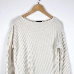 Ann Taylor Cable Knit Crew Neck Sweater